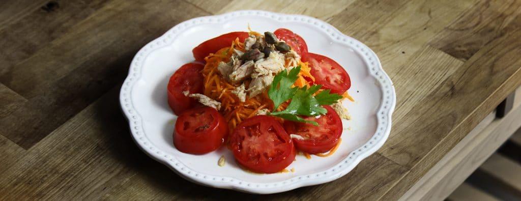 Carrot, Tomato, Tuna Salad